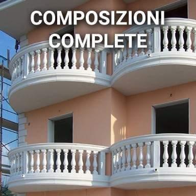 Balaustre in cemento composizioni complete | SpazioEmme