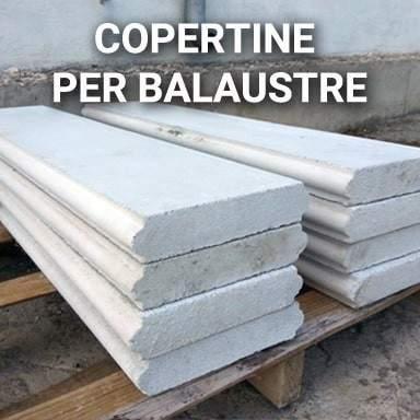 Copertine per balaustre in cemento | SpazioEmme